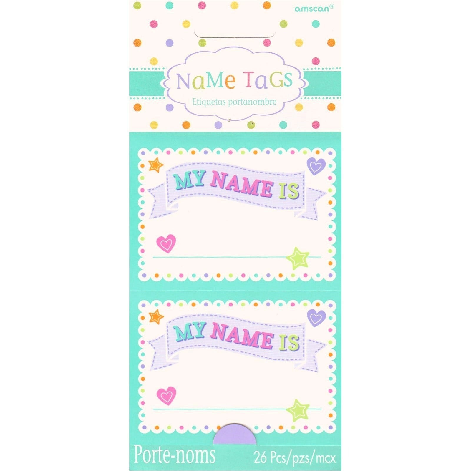 details about baby shower party name tags stickers pack of 26