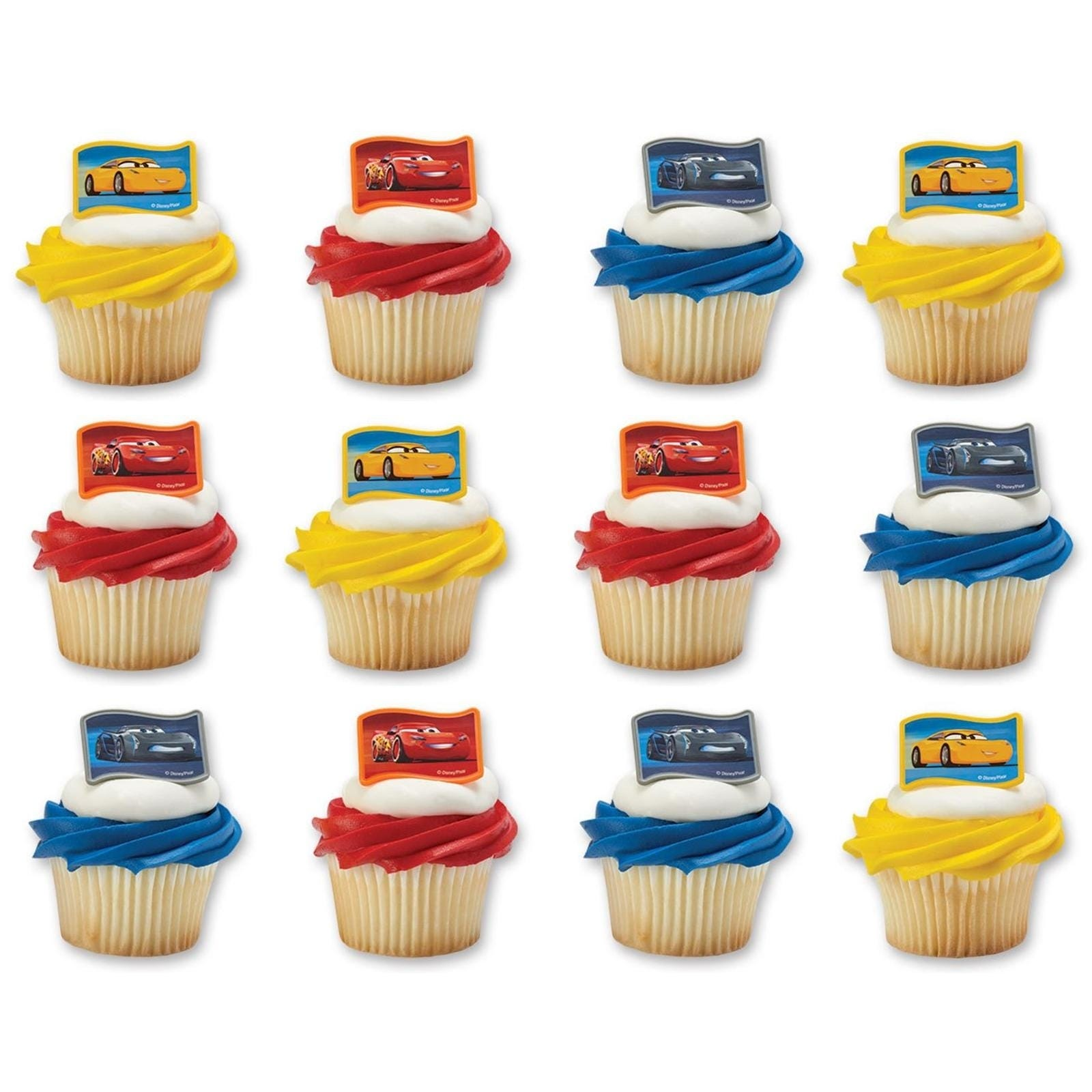 Muffin Wraps Mixed Colours 12 Pack Cake Decorating Baking Party