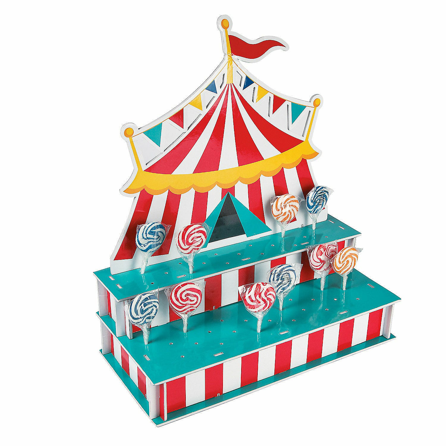 Circus carnival big top birthday party lollipop lolly cake pop stand holder ebay - Cheap circus decorations ...