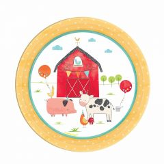Farm Party Small Paper Plates (Pack of 8)
