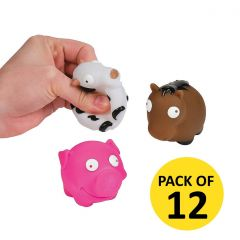 Farm Animal Water Squirts (Pack of 12)