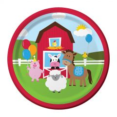 Farmhouse Fun Small Paper Plates (Pack of 8)