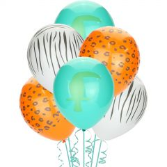 Wild Jungle Latex Balloons (Pack of 10)