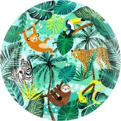 Wild Jungle Large Paper Plates (Pack of 8)
