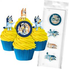 Bluey Edible Wafer Cupcake Toppers (Pack of 16)