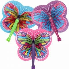 Butterfly Paper Fans (Pack of 12)