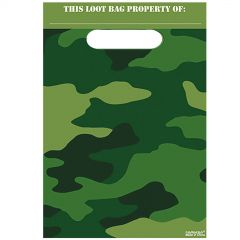 Camouflage Lolly/Treat Bags (Pack of 8)