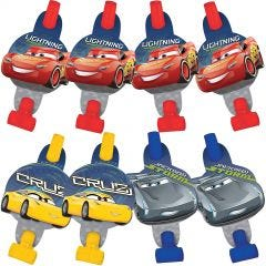 Cars 3 Party Blowers (Pack of 8)