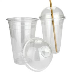 Plastic Smoothie Cups with Dome Lids (Pack of 25)
