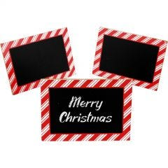 Christmas Chalkboard Label Stands (Pack of 8)