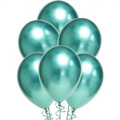 Chrome Green Balloons 30cm Round (Pack of 10)