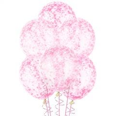 Hot Pink Pre-filled Confetti Balloons (Pack of 6)