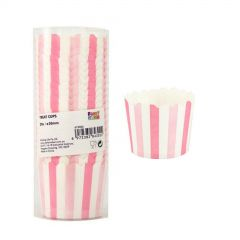 Light Pink and White Striped Baking Cups (Pack of 20)