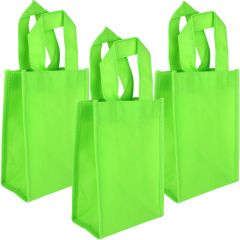 Lime Green Paper Lolly/Treat Bags (Pack of 12)