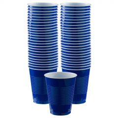 Blue Plastic Cups (Pack of 12)