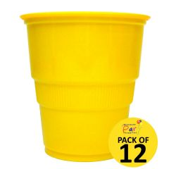Yellow Plastic Cups (Pack of 12)