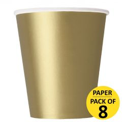 Gold Paper Cups (Pack of 8)