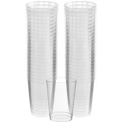 Clear Plastic Cups Big Party Pack (Pack of 50)