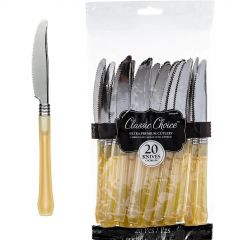 Gold Plastic Cutlery (Pack of 24)