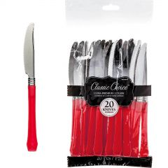 Red Plastic Cutlery (Pack of 24)