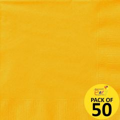 Yellow Large Napkins (Pack of 50)