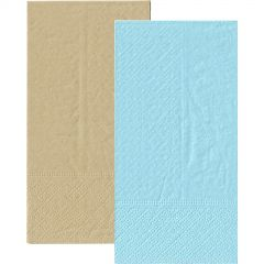 Light Blue and Eco Brown Napkins 1/8 GT Fold (Pack of 20)