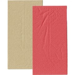 Red and Eco Brown Napkins 1/8 GT Fold (Pack of 20)