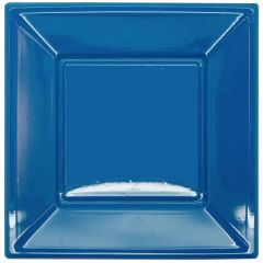 Blue Large Plastic Plates (Pack of 8)