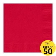 Red Small Napkins (Pack of 50)