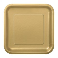 Gold Small Paper Plates (Pack of 16)