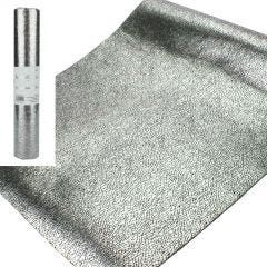 Black and Silver Plastic Tablecloth