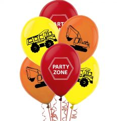 Assorted Construction Trucks Balloons (Pack of 10)