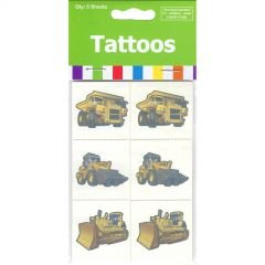 Construction Tattoos (Pack of 36)