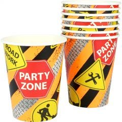 Construction Truck Party Paper Cups (Pack of 8)