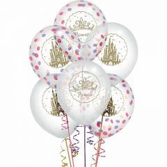 Disney Princess Once Upon A Time Confetti Balloons (Pack of 6)