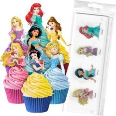 Disney Princess Edible Wafer Cupcake Toppers (Pack of 16)