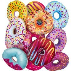 Assorted Plush Donuts (Pack of 12)