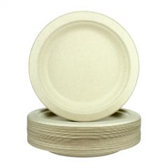 Biodegradable Natural Sugarcane Small Plates 18cm (Pack of 36)