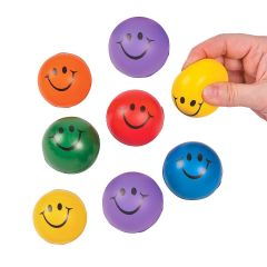 Smiley Face Squishy Balls (Pack of 8)