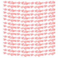 Coral Fabric Flower Curtain