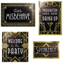 Celebrate in true Gatsby, Gangster or 1920's style with our Roaring 20s Art Deco signs