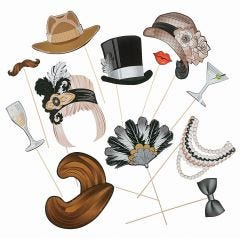1920's Photo Booth Props (Pack of 12)