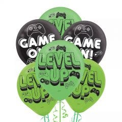 Level Up Latex Balloons (Pack of 6)