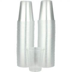 Clear Plastic Cups 200ml (Pack of 100)