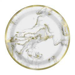 Gold Marble Small Paper Plates (Pack of 10)