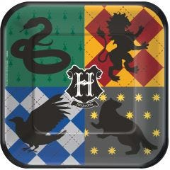 Harry Potter Large Square Paper Plates (Pack of 8)