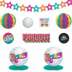 Good Vibes 70's Party Room Decorating Kit