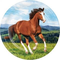 Carousel Horses Large Paper Plates (Pack of 8)