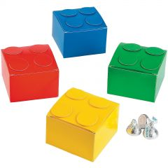 Coloured Brick Party Favour Boxes (Pack of 6)