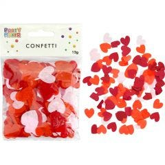 Light Pink, Coral & Red Heart Shaped Tissue Confetti